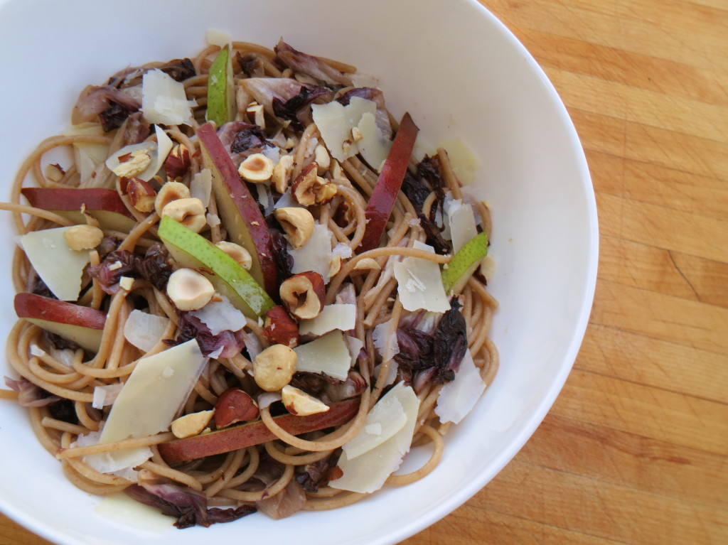 Whole Wheat Spaghetti with Pears, Radicchio, and Brown Butter