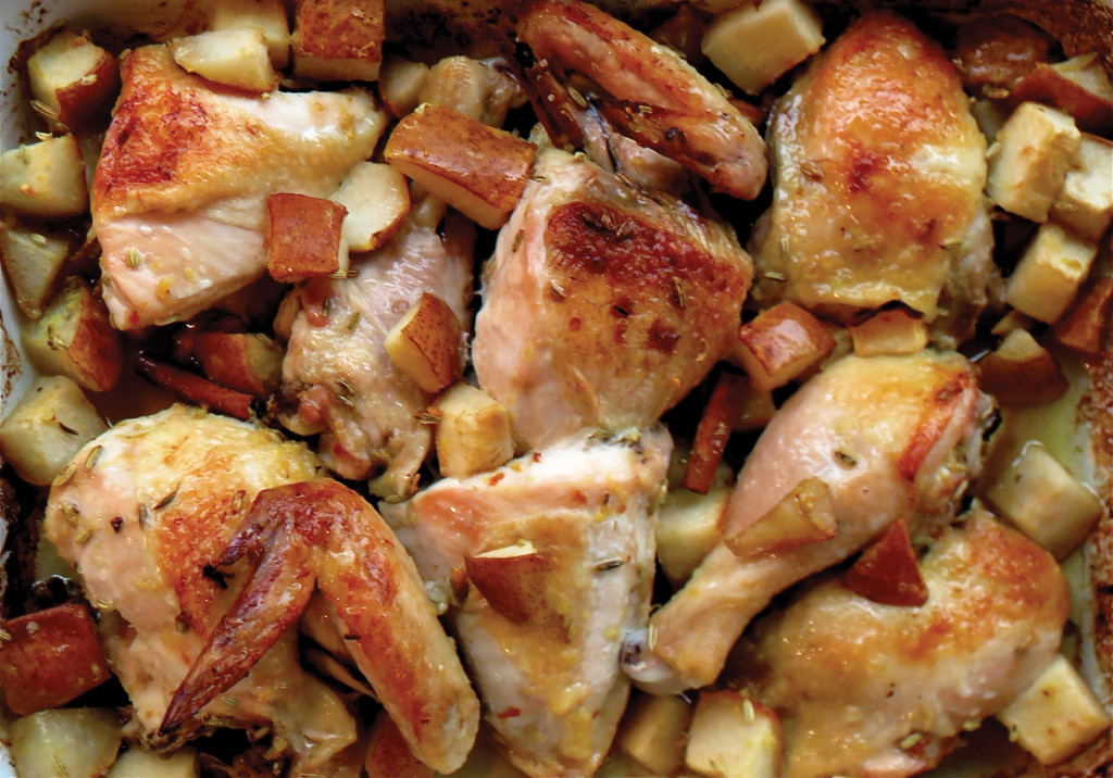 spice roasted chicken and pears RGB