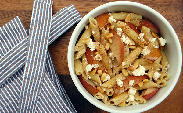 Roasted Pear Pasta with Cinnamon and Feta sm