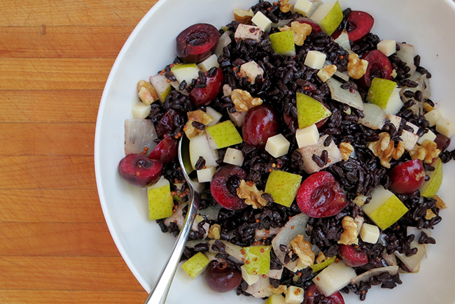 Black Rice Salad with Pears sm