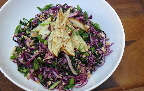 Kale, Cabbage, and Pear Slaw SM