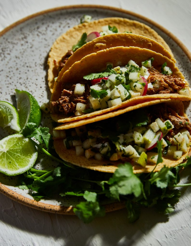 Pork and Pear Tacos