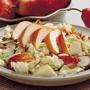 Chicken and Red Bartlett Pear Salad