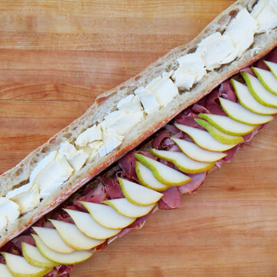 Ham and Pear Sandwich with Brie