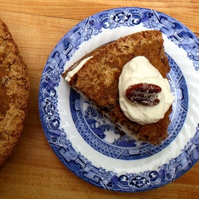 Pear and Rhubarb Upside-Down Cornmeal Cake Recipe