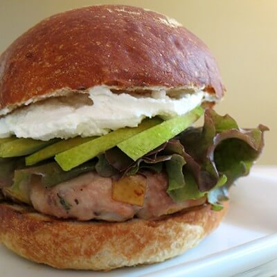 Turkey Burgers with Caramelized Pears and Sweet Onion