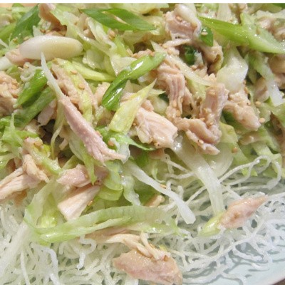 Chinese chicken pear salad