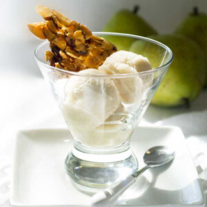 Dairy-Free Pear Ice Cream