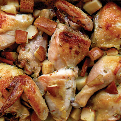 Spice and pear roasted chicken