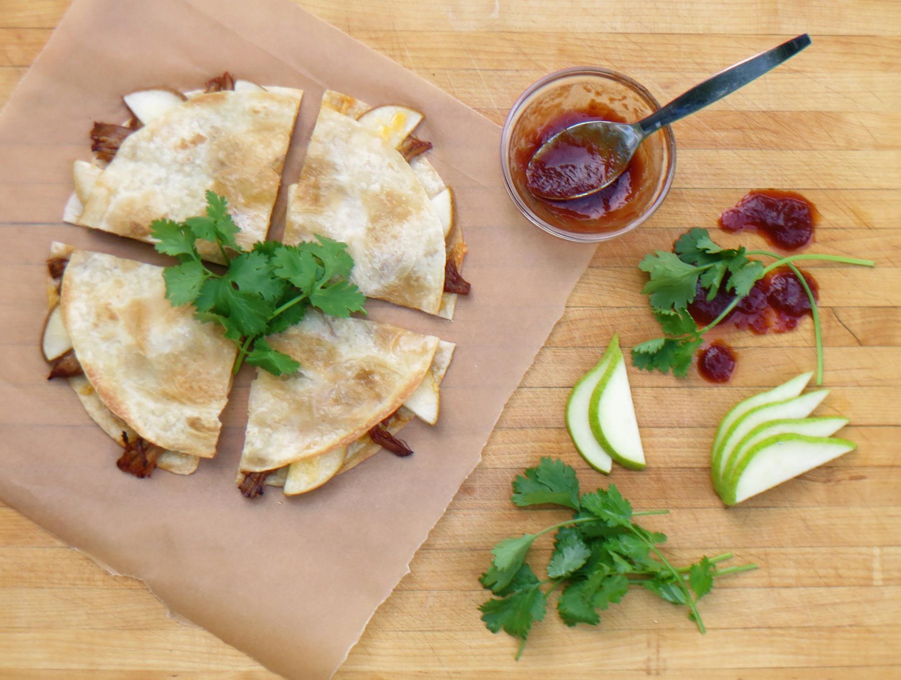 fig-glazed bosc pears