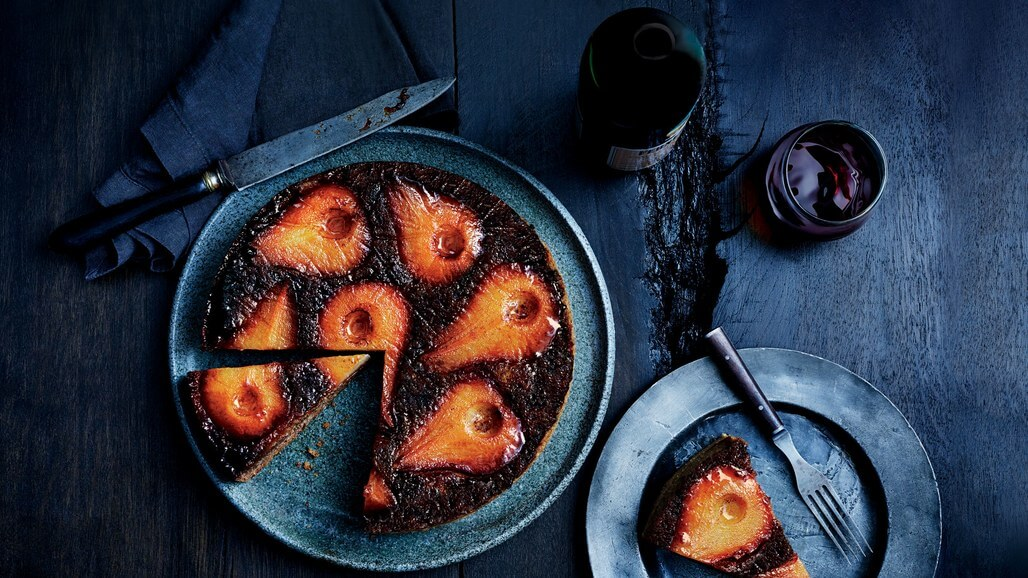 Spiced Pear Upside-Down Cake