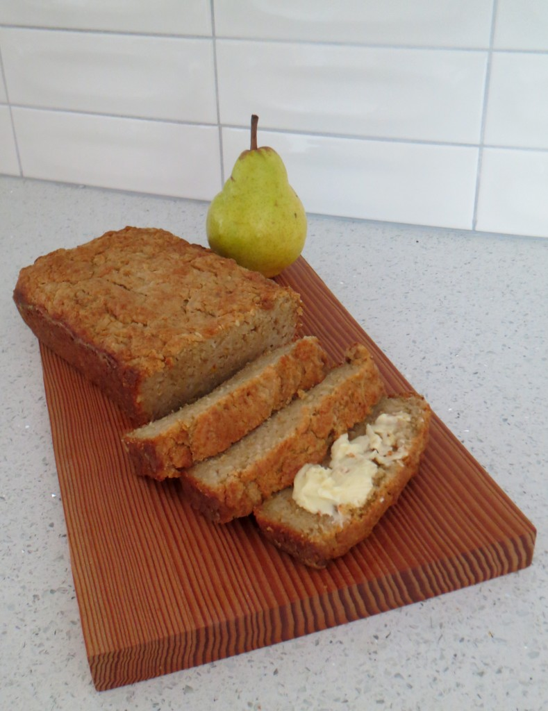 Pear Bread with Butter and Cardamom