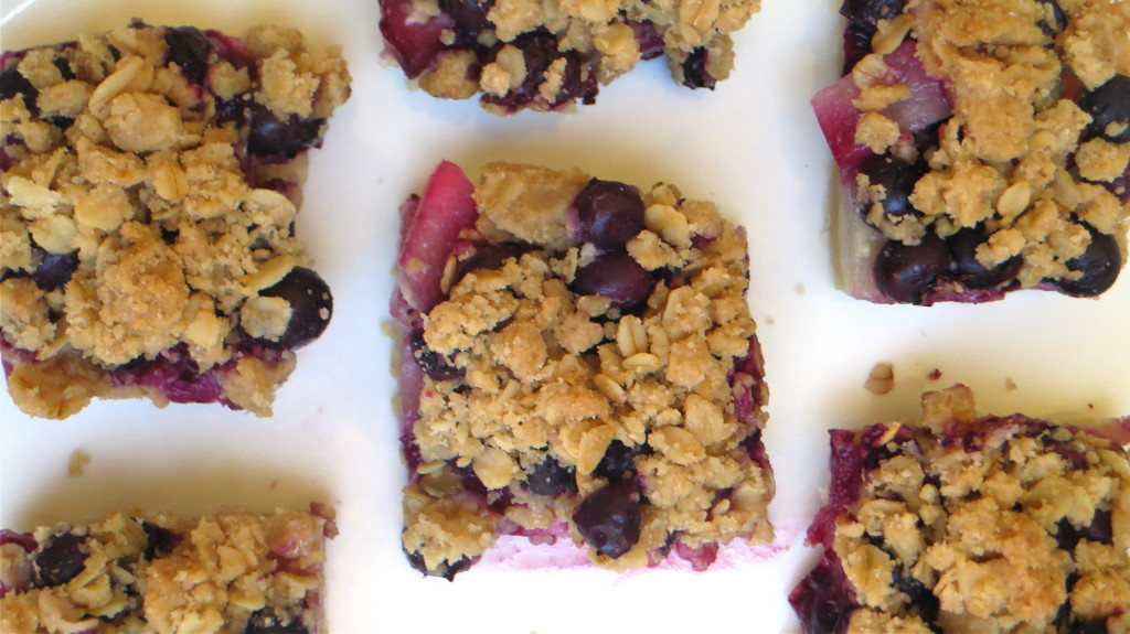 Pear and Blueberry Pie Bars