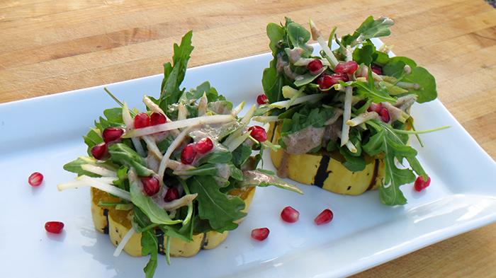 Delicata Squash, Pear, Arugula, and Pomegranate Salad SM