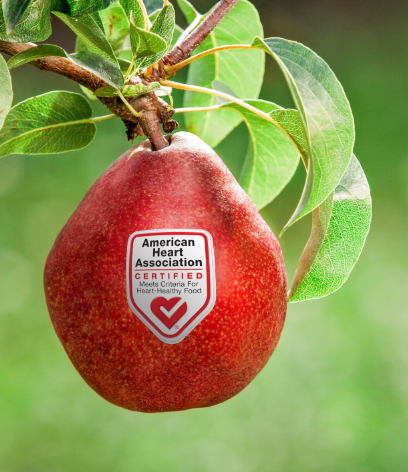 HERO red pear with heart check logo