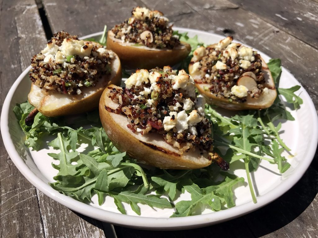 Stuffed Grilled Pears