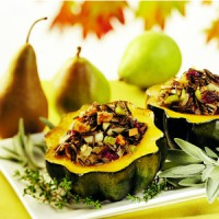 acorn-squash-stuffed-with-pears-wild-rice-walnuts
