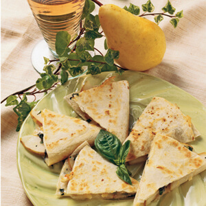 Bartlett Pear Quesadilla