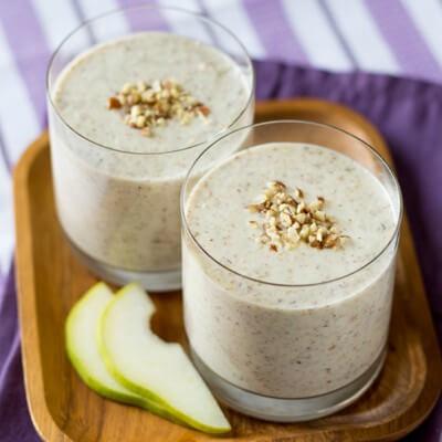 Creamy Pear and Hazelnut Milk Smoothie
