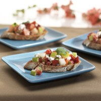 crostini-with-feta-and-pear-strawberry-salsa
