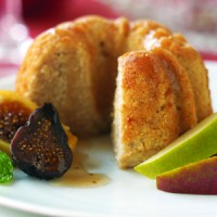 mini-ginger-pear-cakes-with-warm-figs-and-pears-in-brandied-honey