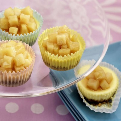 Mini Pear Chevre Cheesecakes