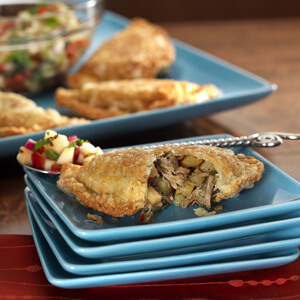 Pulled Pork and Pear Empanadas