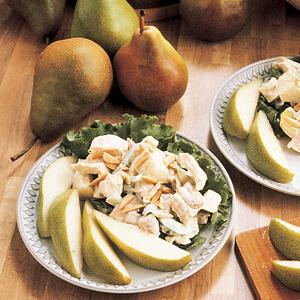 almond-chicken-pear-salad