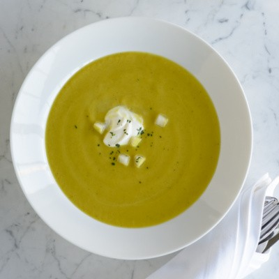 curried squash and pear soup