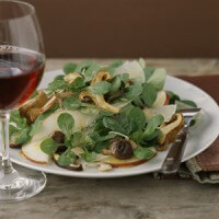 mache-pear-and-wild-mushroom-salad