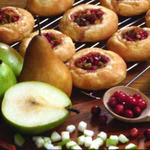 Pear Cranberry Buns