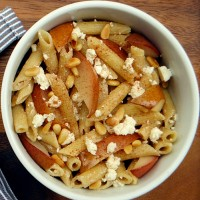 roasted-pear-pasta-with-cinnamon-and-feta
