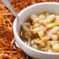 crispy-potato-latkes-with-spiced-pear-compote