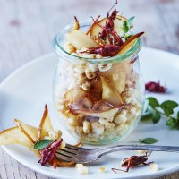 esquites-with-pears-and-chapulines