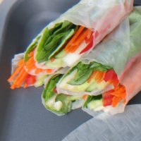 pear-fresh-vegetable-summer-rolls