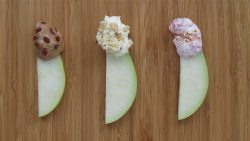 three-different-dips-fresh-pears