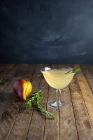 spiced-poached-pear-cocktail-rosemary