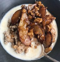 oatmeal-brown-butter-glazed-pears-walnuts