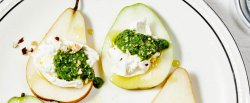 fresh-pears-and-burrata-cheese-with-hazelnut-mint-pesto