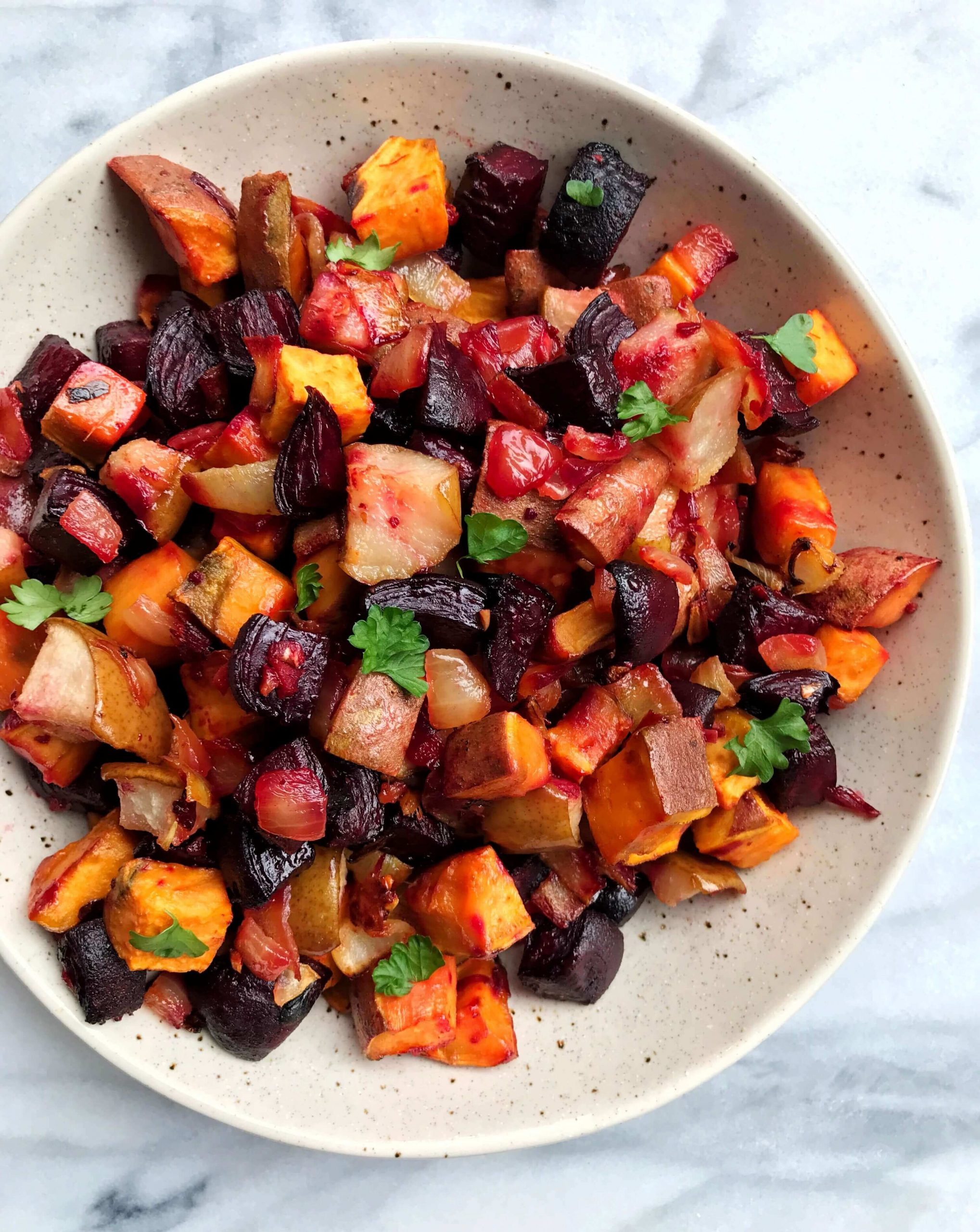 Ginger Roasted Beets Sweet Potatoes And Pears Usa Pears